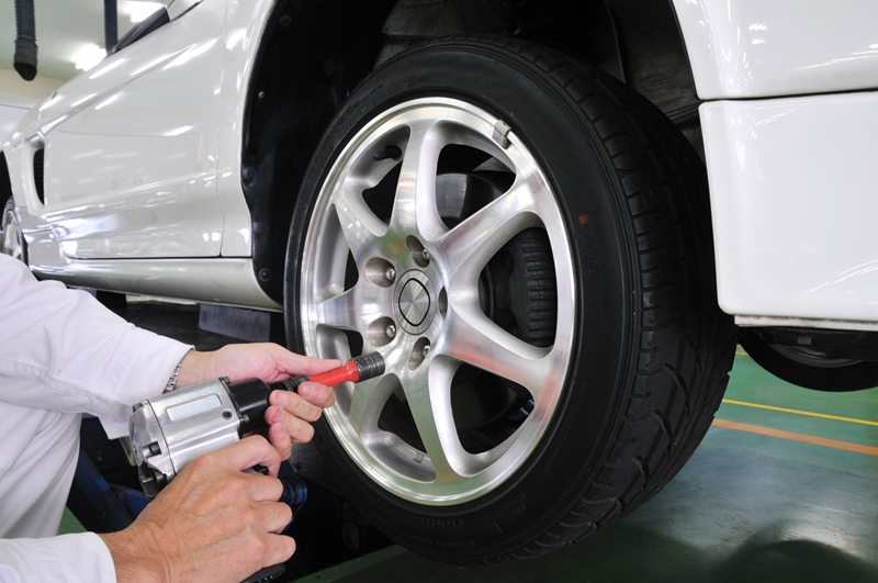 タイヤの修理